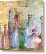 Bottle Collage Metal Print