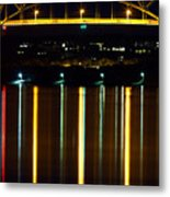 Bourne Bridge At Night Cape Cod Metal Print