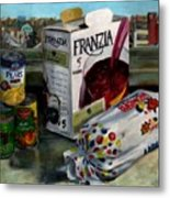 Box Wine With Bread No. 1 Metal Print by Thomas Weeks