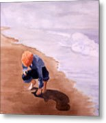 Boy On The Beach Metal Print