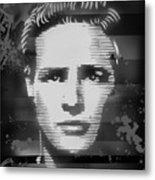 Brando Odyssey Black And White Metal Print