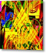 Brass Attack Metal Print