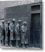 Breadline At The Fdr Memorial - Washington Dc Metal Print by Brendan Reals