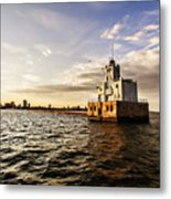 Breakwater Lighthouse Metal Print