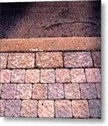 Brick Sidewalk 3 Wc Metal Print