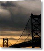 Bridge In Oil Metal Print