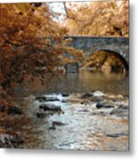 Bridge Over The Wissahickon At Valley Green Metal Print