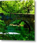 Bridge Over The Wissahickon Metal Print by Bill Cannon