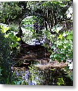 Bridge Reflection At Blarney Caste Ireland Metal Print