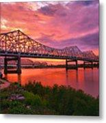 Bridges At Sunrise II Metal Print