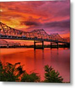 Bridges At Sunrise Metal Print by Steven Ainsworth