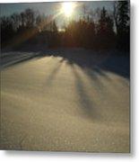 Bright Sun On Fresh Snow Metal Print