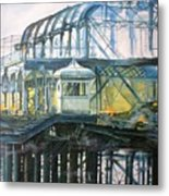 Brighton's West Pier-lone Survivor Metal Print