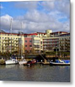 Bristol Harbour Appartments Metal Print
