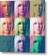 Britney Spears Pastel Warhol By Gbs Metal Print