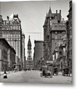 Broad Street Philadelphia 1905 Metal Print