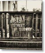 Broad Street Subway - Philadelphia Metal Print