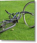 Broken Bike Metal Print