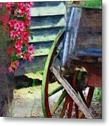 Broken Wagon Metal Print