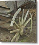 Broken Wheel Metal Print