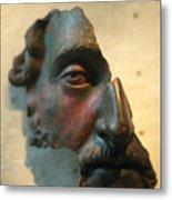 Bronze Fragment Of A Human Face Metal Print
