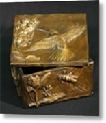 Bronze Hummingbird Box Metal Print by Dawn Senior-Trask