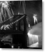 Brooklyn Bridge Columbus Quincentennial 1992 Metal Print