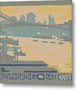 Brooklyn Bridge Late Afternoon Metal Print