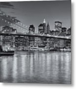Brooklyn Bridge Twilight II Metal Print by Clarence Holmes