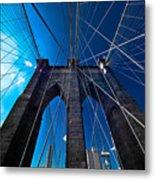 Brooklyn Bridge Vertical Metal Print by Thomas Splietker