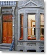Brooklyn Brownstone Window Metal Print