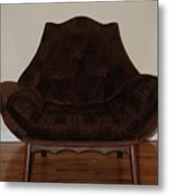 Brown Chair Metal Print