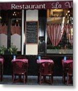 Brussels - Restaurant La Villette Metal Print by Carol Groenen