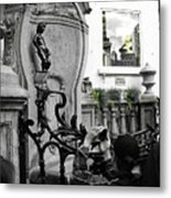 Bruxelles In The Street The Boy Metal Print