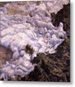 Bubbling Sea Rocks Metal Print