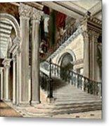 Buckingham House Stair Case Metal Print