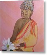 Buddha And The Lotus Blossom Metal Print