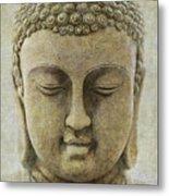 Buddha Head Metal Print by M Montoya Alicea