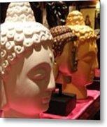 Buddha Heads Metal Print