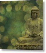 Buddha Light Gold Metal Print