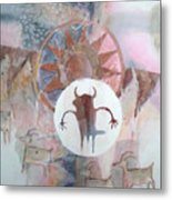 Buffalo Dancer Metal Print
