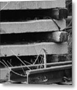 Building Tracks Metal Print