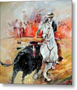 Bullfight 3 Metal Print