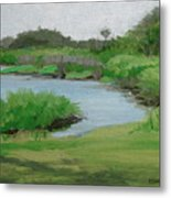 Bulow Woods Creek Metal Print