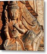 Burmese Pagoda Sculpture Metal Print