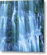 Burney Falls Mist Mcarthur Burney Sp California  Metal Print