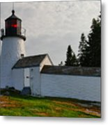 Burnt Island Lighthouse  - The Other Side Metal Print