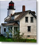 Burnt Island Lighthouse Side View Metal Print