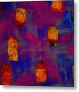 Burnt Orange Floating Metal Print