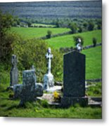 Burren Crosses County Clare Ireland Metal Print